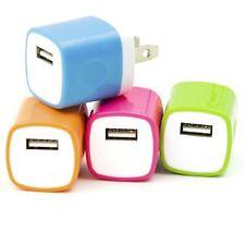 Akiko Electronics 4 PCS Universal USB 1.0 AMP Power Adapter Wall Charger Plug
