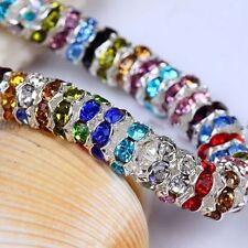 100pcs Perles Intercalaire Rondelles Strass Acrylique 6mm Couleur AB
