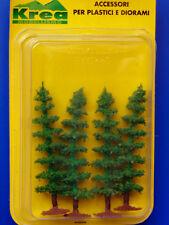 Alberi di conifere per modellismo verde chiaro 4 pz. H. cm. 8 HO 1/87 - Krea