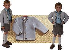 NEU Strickjacke Jacke Trachtenjacke zum Knöpfen  Kinder St. Peter Trachten grau