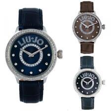Reloj Mujer LIU JO Luxury BRILL Cuero Azul Brown Gris Negro Cafè Swarovski