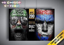 Poster UFC Conor Mcgregor Vs Nate Diaz Wall Art