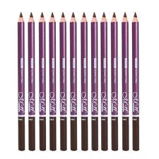 12pcs Crayon Sourcil Marron Clair / Noir / Brun Foncé Waterproof, Eyebrow