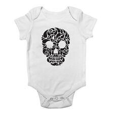 Skull Head Gothic Boys and Girls Baby Grow Vest Bodysuit