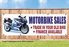 MOTORBIKE SALES OUTDOOR SIGN GARAGE BANNER waterproof PVC + Eyelets 001