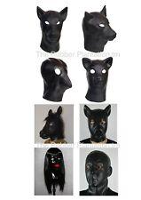 Black Latex Fetish Mask Hood Female Doll Dog Pup Play Fancy Dress Gimp Stag Pig