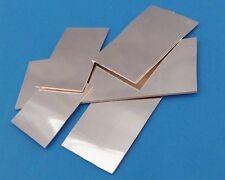 ARGENTO 925 1mm lamiera fortemente 70x32mm,49x32mm,47x16mm,30,5x14,5mm,47x11m lucidata NUOVO