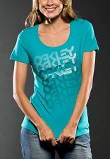 Women's Oakley Crew Neck S/S T Tee Shirt Green Pink White Size XS S M L