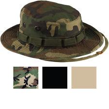 Heavy Duty Boonie Hat Military Jungle Bucket Cap Wide Brim Sun Fishing Hiking