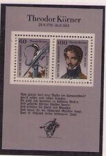 Germania/Germany Rep.Federale 1991 Bf Bicentenario nascita Theodor Korner MHN
