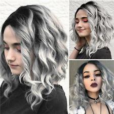 Exquisite Short Wavy Bobo Human Hair Rose net Wig Glueless Front Wigs Women New