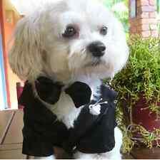 PET WEDDING DOG TUXEDO GROOM PUP BRIDAL COAT PET DOG DINNER JACKET TUXEDO S -XXL