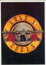 Carte Postale Postcard Groupe Hard Rock GUNS N' ROSES Fleur avec Flingue