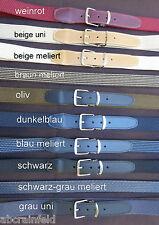elastische melierte Gürtel, Länge 130cm, Stretchgürtel mit Lederendstück,30mm,