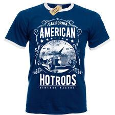 American Hotrods T-Shirt S-3XL Ringer Mens Vintage Racers Cars Retro