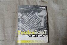 Yamaha Motorcycle Technical Service Data Manual 1995 Good Condition