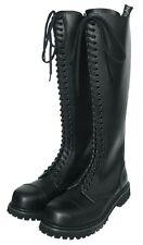 KO Ranger Bottes Steel Toe Bottes gothicschuhe Acier Bouchons 30-Trou Noir
