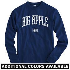 Big Apple NYC Long Sleeve T-shirt LS - New York City Yankees Knicks  Men / Youth