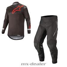 2019 Alpinestars Enduro Black Venture R Motocross Combo cross Trousers Jersey