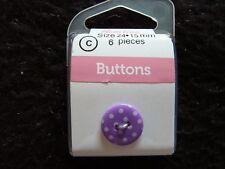 HEMLINE Buttons - Novelty - Round Dot - two hole