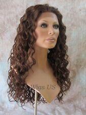 "Lace Front Wig Long Spiral Curls HEAT OK 21"" U Choose Color LF Shania Wigs US"