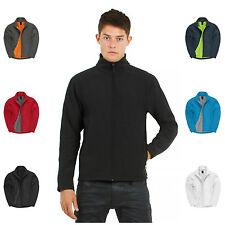 Para Hombre Chaqueta Softshell de Ocio Workwear al aire libre caminar Abrigo De Lana Forrada S – 3XL
