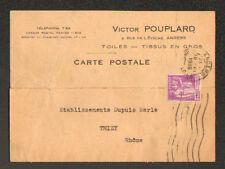 "ANGERS (49) TOILES & TISSUS en gros ""Victor POUPLARD"" en 1936"