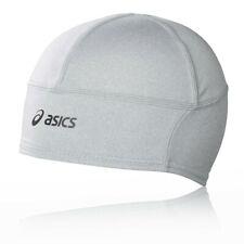 Asics Unisex Performance Running Beanie Grey Sports Warm Reflective Headwear