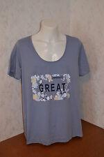 Damenshirt T-Shirt Baumwolle Gr. 48/50 und 52/54, - NEU + OVP