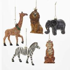 Glittered Wild Animals Ornament
