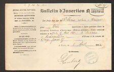 """PARIS (I°) IMPRIMERIE / PRESSE """"JOURNAL GENERAL D'AFFICHE """" en 1882"""