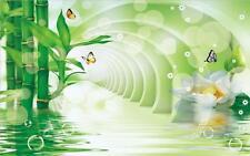 3D Fantasielandschaft Bambus Fototapeten Wandbild Fototapete BildTapete Familie