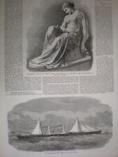 El corredor de bloqueo confederado Azul Marino Lizzie lanzó Clyde 1864 antiguos impresión