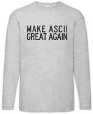 Make ASCII Great again Manica lunga T-shirt CSS Binary codice Computer Science Fun