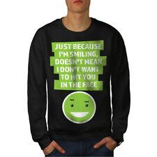 Cute Joke Casual Jumper wellcoda Smile Blink Face Mens Sweatshirt