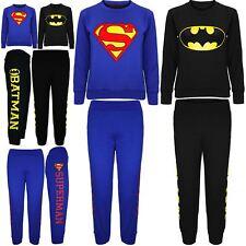Kids Boys Girls Unisex Fleece Superman Batman Sweatshirt Jog Pant Bottom Trouser