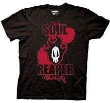 Authentic Bleach Soul Reaper Red Flames Skull Mens Black T Shirt S M L Xl 2Xl