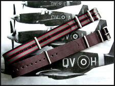 22mm Bonded striped NATO G10 Premium nylon watch strap 2 pak Stitched IW SUISSE