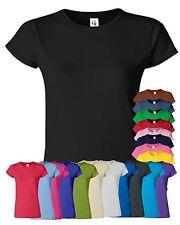 Gildan TShirt Ladies Skinny Fit Short Sleeve Top Blank Plain T Shirt