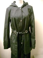 Via Spiga Black Snap Front Hooded Lightweight Coat S NWT