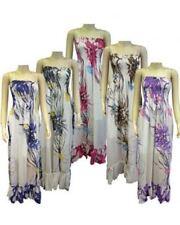 Women Ladies Summer Chiffon Long Maxi Dress Size One Size: 8-14 UK