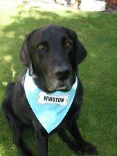 Personalised Dog Bandana Neck Scarf Slide On Collar LOVELY GIFT