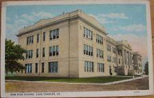 1926 Postcard: 'New High School - Lake Charles, Louisiana LA'
