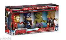 Avengers L'Ere d'Ultron pack 4 figurines Bobble Head Iron Man Captain Hulk Thor-