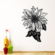 Sunflower Wall Sticker Decal Transfer Floral Flower Nature Home Matt Vinyl UK