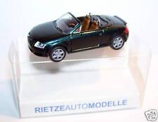 MICRO RIETZE HO 1/87 AUDI TT ROADSTER VERT FONCE METAL avec rétroviseurs in box