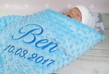 ★Zweilagige Decke  ★ Babydecke mit Namen  ★ Baumwolle ★ 75 x 100 cm ★ MINKY ★