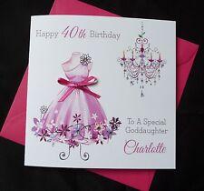 PERSONALISED Handmade BIRTHDAY Card Fashion Dress 16th 18th 21st 30th 40th  2511