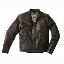 Spidi GB Garage Motorcycle Motorbike Leather Jacket Brown