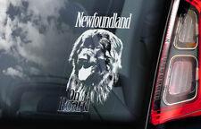 Newfoundland on Board - Car Window Sticker - Landseer Newf Dog Sign Decal - V01